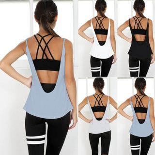 Low Back Tank | Fitness | Active Wear | Gym Top | Sleeveless | Size 10-14