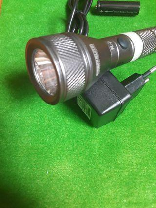 TorchLight- Farlite- Rechargeable. Free 1 Spare battery