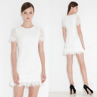 (S) Fashmob Kylee Lace Dress in White