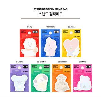 [Preorder] BT21 Stand Sticky Note (Official Merchandise)