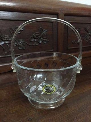 Vintage Sasaki Glass Ice Bucket