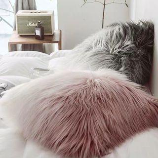 50cm Faux Sheep Fur Cushion