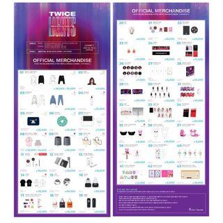 TWICE WORLD TOUR 2019 TWICE LIGHTS  OFFICIAL MERCHANDISE