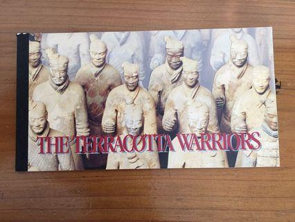 🚚 United Nations Mint Stamps Booklet - The Terracotta Warriors