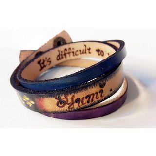 客製化/皮雕/繞圈分割手環/手作皮革飾品/免費烙字/含運費(不議價)