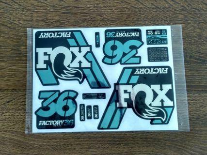 Fox 36 Grip 2 Silver Chrome Fork Decals