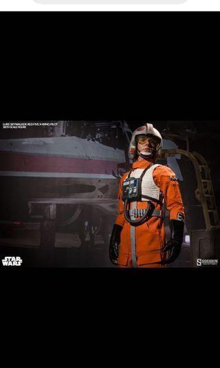 Luke Skywalker: Red Five X-wing Pilot 1/6 Exclusive Sideshow