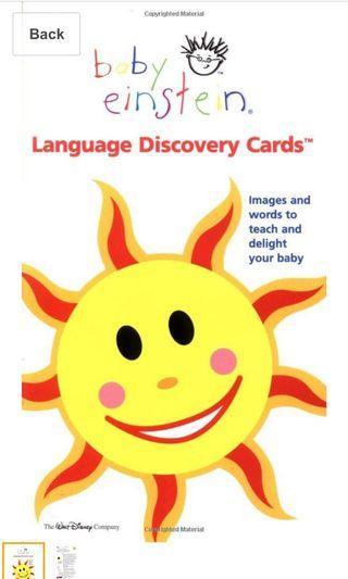 Baby Einstein language discovery cards