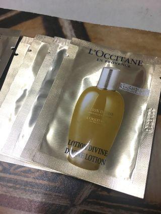 Loccitane divine lotion (45$ for 8)包郵
