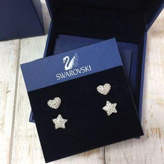 Swarovski 滿鑽愛心星星耳環