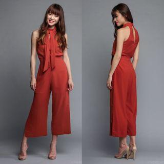 (S) TVD Marissa Keyhole Jumpsuit in Rust Orange