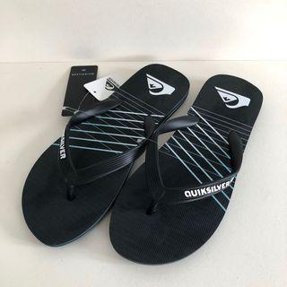 Man's 男生夾腳拖鞋 QUIKSILVER 澳洲海灘鞋 US8,US9,US10,US11(MOLOKAI SHIBORI 人字夾腳拖鞋-黑色)