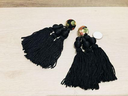 Korean Design Tassel Earrings