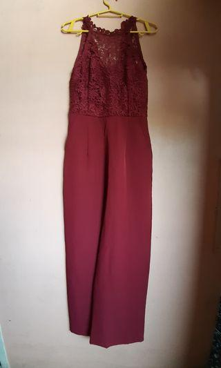 Maroon Formal Jumpsuit
