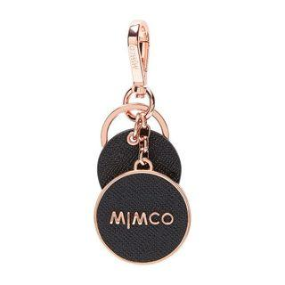 Mimco Sublime Keyring Black & Rose Gold
