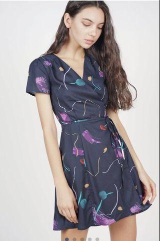 🚚 BNWT MDS Tie Wrapped Dress Midnight Blush