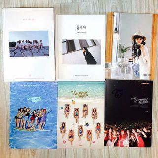 TWICE albums/items