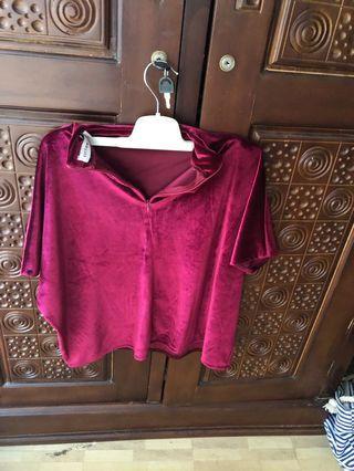 Beludru cotton ink pink FREE ONGKIR