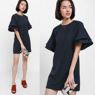 (S) Love Bonito Love Bonito Gwendolyn Layered Ruffle Sleeve Dress
