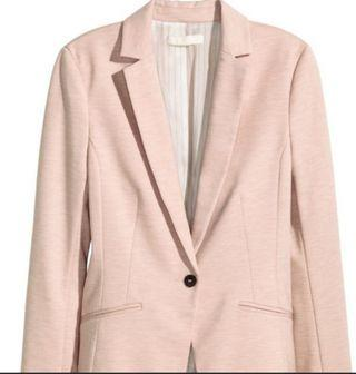 Looking for H&M Light Pink Jersey Blazer