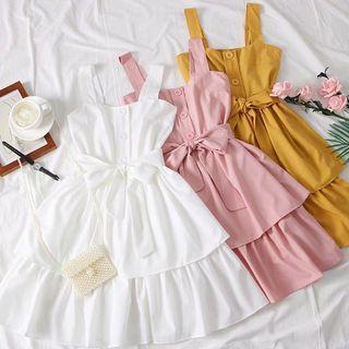 Layla Tier Button Flutter Dress