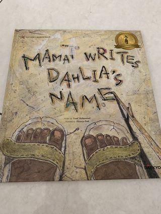 Mama Writes Dahlia's Name