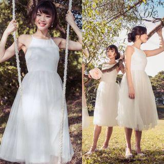 (S) TVD Midsummer's Night Tulle Dress In White