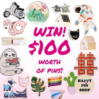 Enter our Giveaway now! For Enamel Pin lovers, win  brooch, badges, collar pin, lapel pin