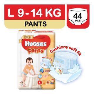 BN HUGGIES GOLD PANTS L SIZE - 3pks