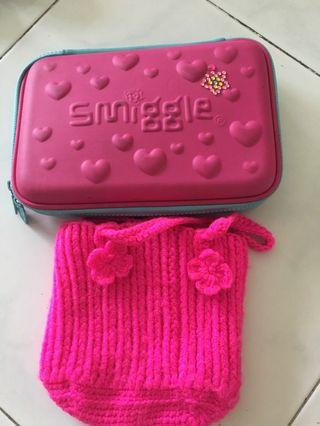🚚 Smiggle Pencil Case and small bag