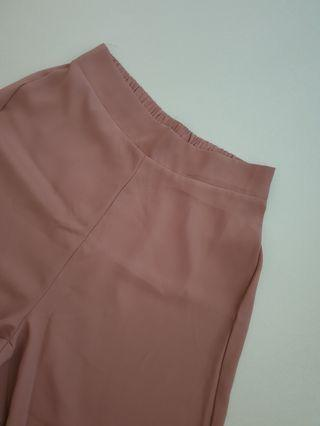 Taupe / Pink Culottes