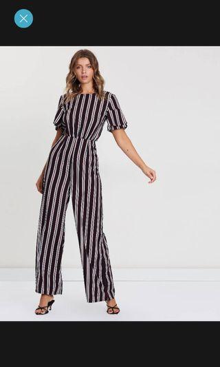Brand New Striped Jumpsuit Sz 10 RRP $89.95