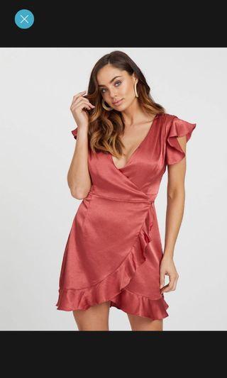 Brand New Orange / Rust Wrap Dress Sz 8 RRP $89.95