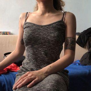 GAP DRESS灰色吊帶裙