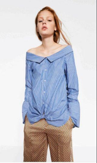 Zara Off Shoulder Striped Top