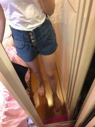 淺藍高腰牛仔褲