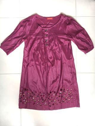 Royal Purple Embellished Dress (PRICE REDUCED)