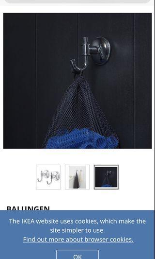 BN IKEA Balungen Bathroom Towel Hook
