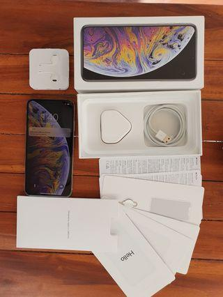 iPhone XS Max 256gb white FU fullset, minus dikit