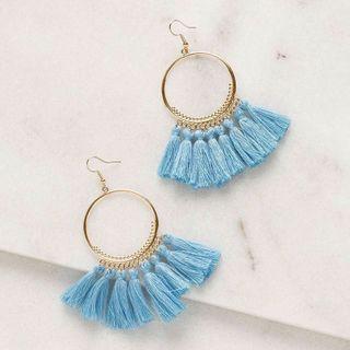 🚚 Blue Tassel Earring