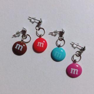 🚚 ASYMMETRICAL M&M's EARRINGS / EAR CLIPS