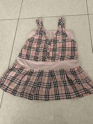 Pink Checked Dress