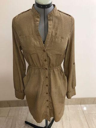 Costa Blanca Brown Printed Dress