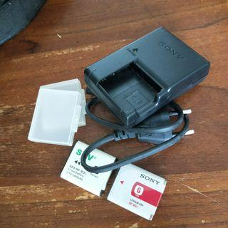 Sony  Camera battery (NP-BG1) and charger
