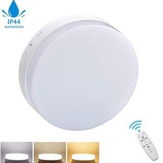 Round Led Surface panel Flush Mount Ceiling Light, Dimmable(2700K-6500K), Remote Control