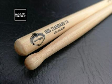 (NEW)Heartbeat 7A Oval Tip Drumsticks