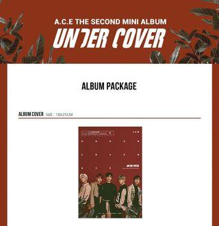 PRE ORDER ACE 2ND MINI ALBUM - UNDER COVER