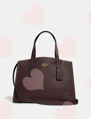 ❤️ Coach 32987 Charlie Carryall With Rivets