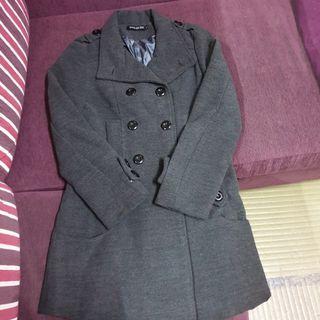 🚚 毛料排扣大衣外套