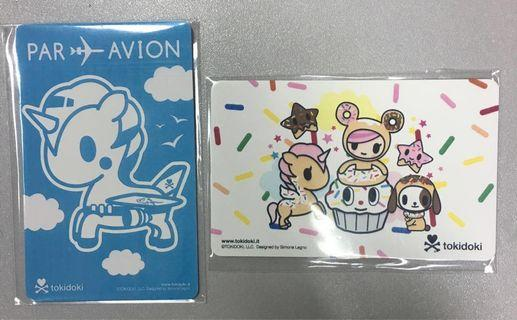 BN - Ezlink Card - Tokidoki, Both no load value. Expiry :2025 Blue colour/ 2024 White colour. Both for $21